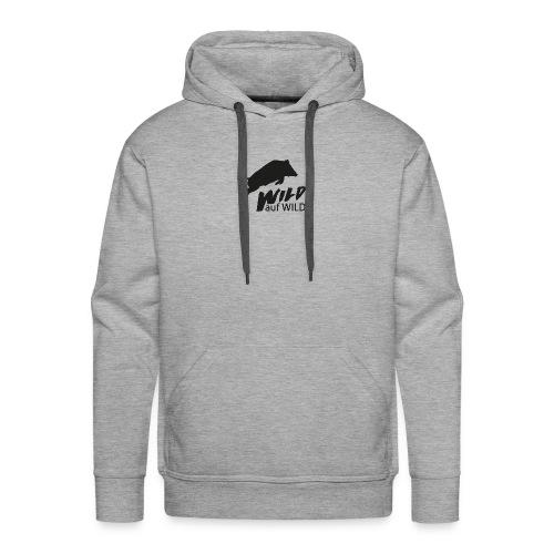 Logo Wild auf Wild einfarbig Schwarz - Männer Premium Hoodie