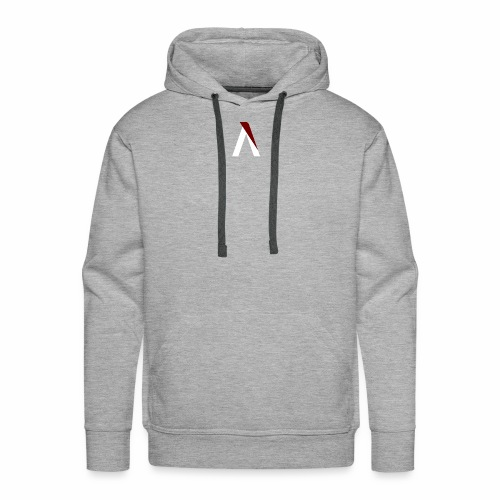 logo aog white and red - Sweat-shirt à capuche Premium pour hommes