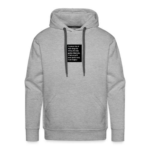 d9004b14d4b7a72c8284ece1ad7e0cd1 - Sweat-shirt à capuche Premium pour hommes