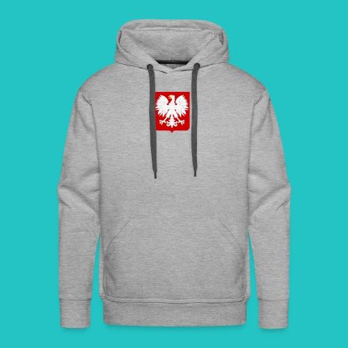 Koszulka z godłem Polski - Bluza męska Premium z kapturem