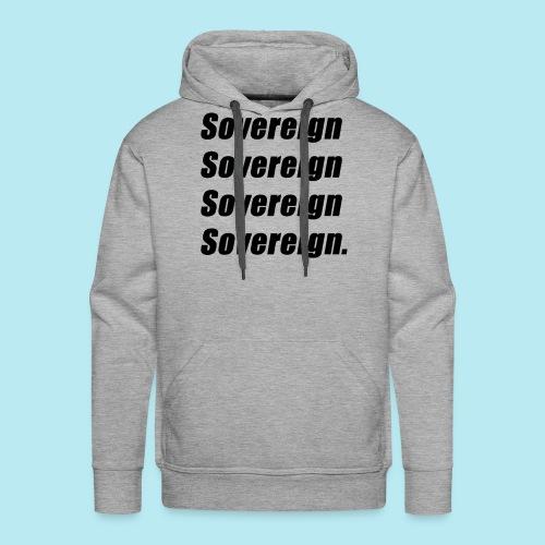 Sovereign Black Repeat - Men's Premium Hoodie