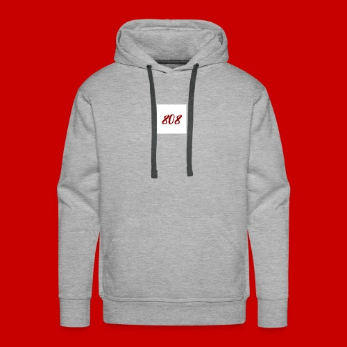 red on white 808 box logo - Men's Premium Hoodie