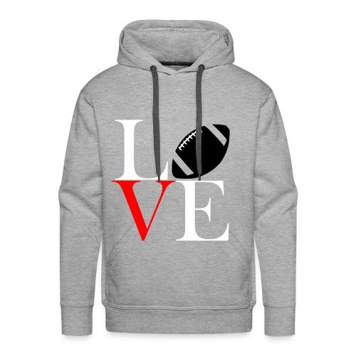 Love Symbol im Football Style - Männer Premium Hoodie