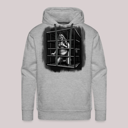 woman in cage - Männer Premium Hoodie