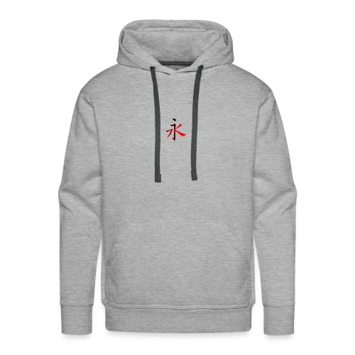 Kinesisk Bogstav Rød/Sort på Brystkassen - Herre Premium hættetrøje