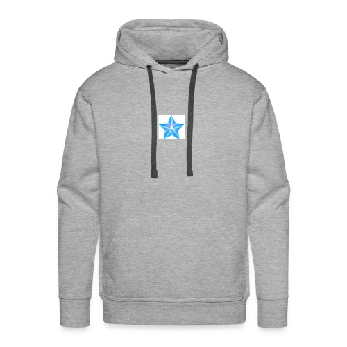 blue themed christmas star 0515 1012 0322 4634 SMU - Men's Premium Hoodie