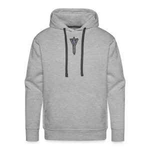 Algiz Rune - Connection with Asgard / Protection - Men's Premium Hoodie