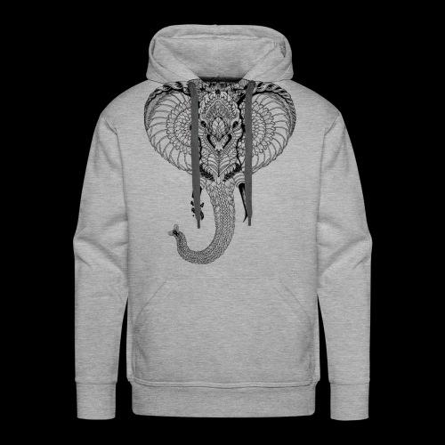 Elephant stylisé - Sweat-shirt à capuche Premium pour hommes