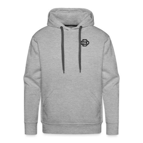 Black Monogram Logo - Men's Premium Hoodie