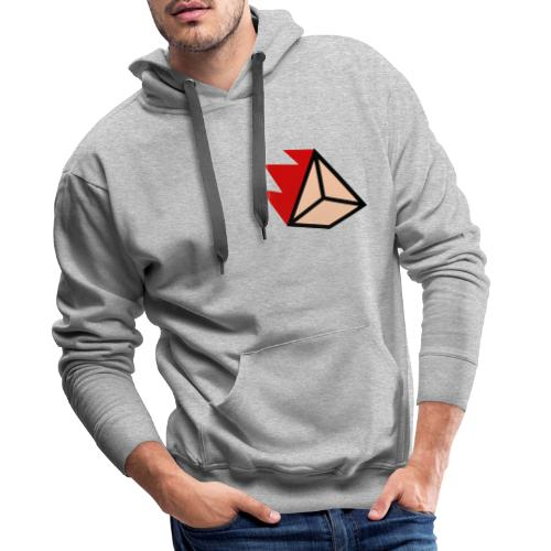 Burning Pyramid - Männer Premium Hoodie