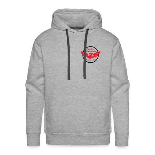 Scarlets Supporters Pembrokeshire logo 2 - Men's Premium Hoodie