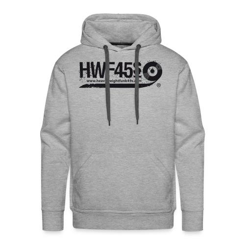 HWF45S Retro Logo Black - Men's Premium Hoodie