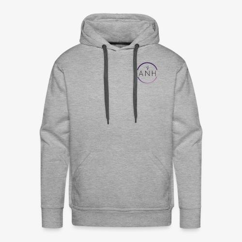 ANH purple and black logo - Men's Premium Hoodie