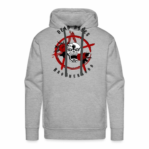 Dead Roses Anarchy Skull Black - Men's Premium Hoodie