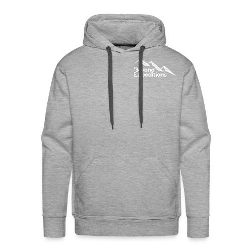 Beyond Expeditions White Logo - Sweat-shirt à capuche Premium pour hommes