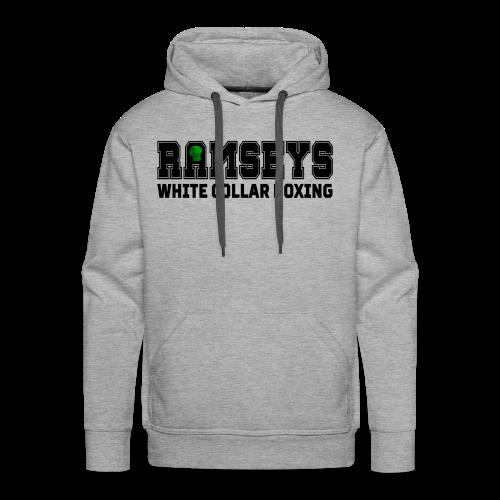 Ramseys White Collar Boxing Black Logo - Men's Premium Hoodie