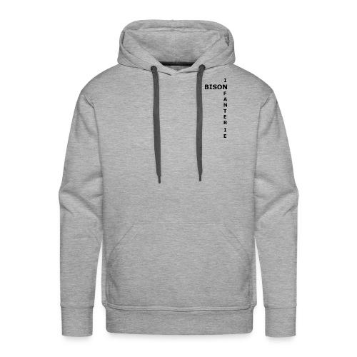 Bison d'Infanterie - Sweat-shirt à capuche Premium pour hommes