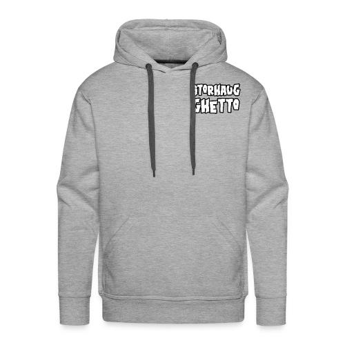 Storhaug Ghetto Plain Logo - Premium hettegenser for menn