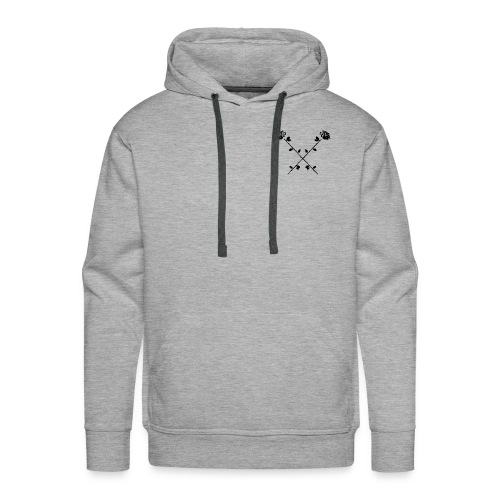 Crossed Roses - Men's Premium Hoodie
