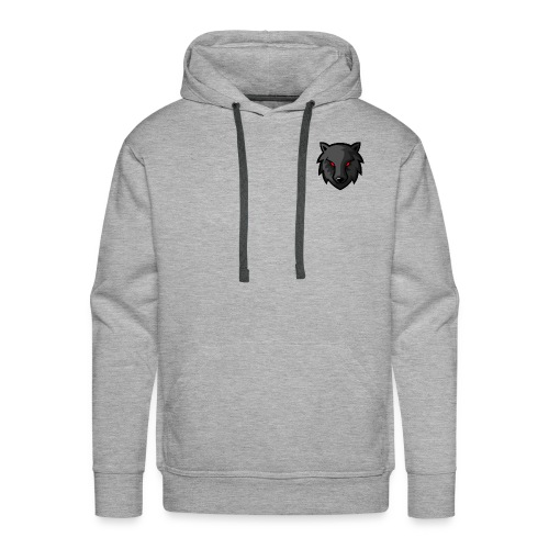 LoneWolf Black - Sudadera con capucha premium para hombre