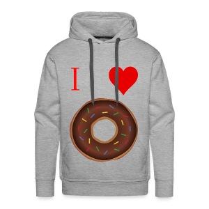 I ♥ donuts | T-shirt | Tiener/Man - Mannen Premium hoodie