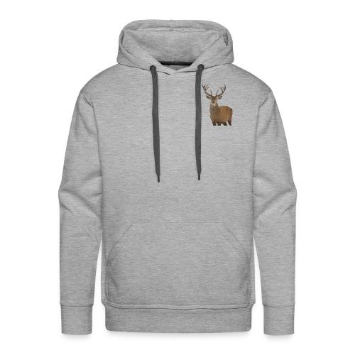 Cerf Low poly hoodie - Sweat-shirt à capuche Premium pour hommes