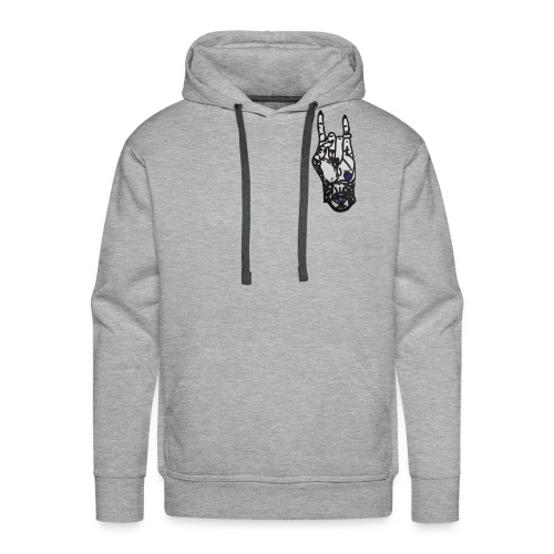 Rock Female Hand - Men's Premium Hoodie