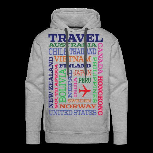 Travel Places design - Miesten premium-huppari