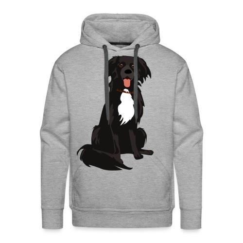 border collie illustratie - Mannen Premium hoodie