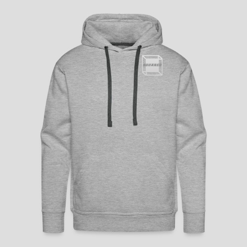 Squared Apparel Logo White / Gray - Men's Premium Hoodie
