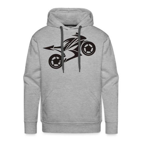 Motorcycle Wheelie - Männer Premium Hoodie