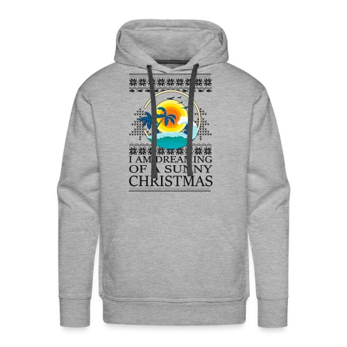 I am dreaming of a sunny Christmas - Mannen Premium hoodie