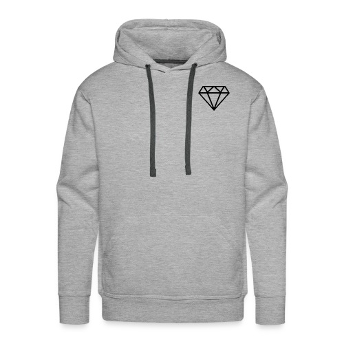 Diamante transparente - Sudadera con capucha premium para hombre