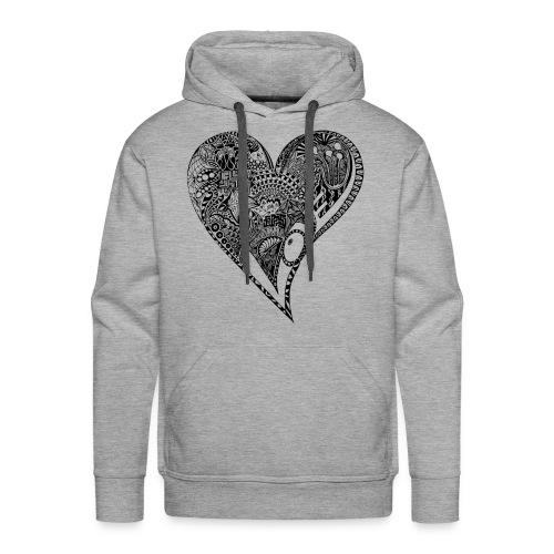 Heart black - Männer Premium Hoodie