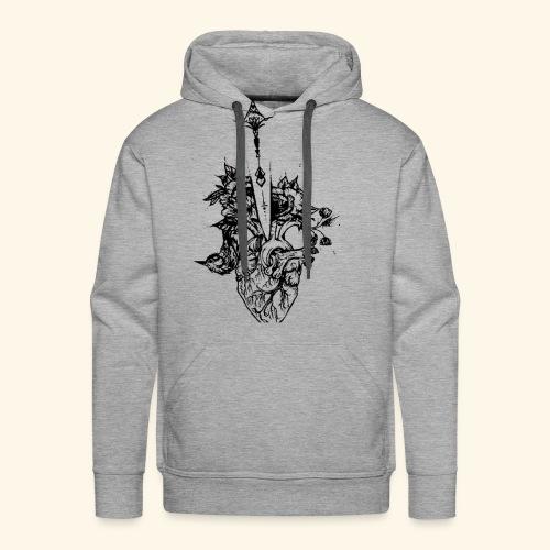 la nature du coeur - Sweat-shirt à capuche Premium pour hommes