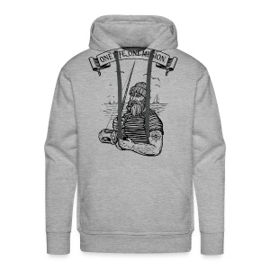 one life. one mission - fishing! - Männer Premium Hoodie