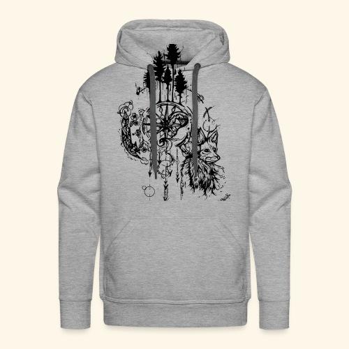 renard nature - Sweat-shirt à capuche Premium pour hommes