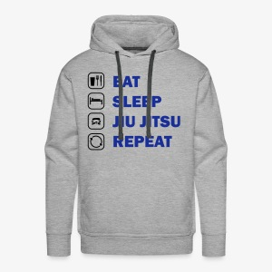 Eat, Sleep, Jiu Jitsu, Repeat - Men's Premium Hoodie