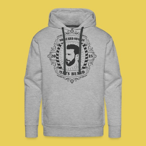 No Beard No Pain - Sweat-shirt à capuche Premium pour hommes