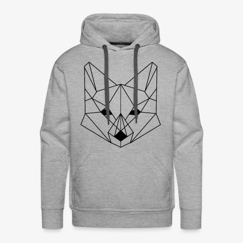 Geometrischer Fuchs - Männer Premium Hoodie