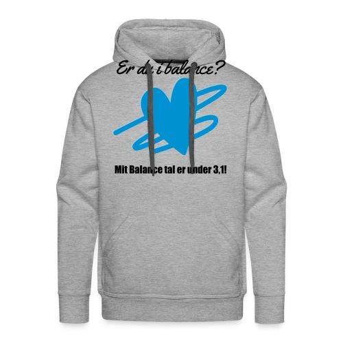 I Balance Design - Herre Premium hættetrøje