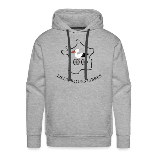 Deux roues libres - Sweat-shirt à capuche Premium pour hommes
