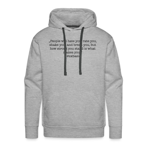 Eigener Spruch auf Pullover, T-Shirt - Männer Premium Hoodie