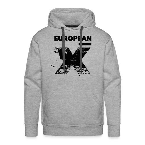 European X / Black Logo - Mannen Premium hoodie