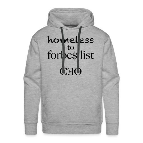 homeless to forbes list - Männer Premium Hoodie