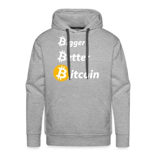 Bitcoin Slogan - Männer Premium Hoodie
