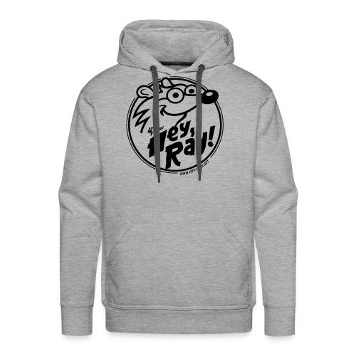 Hey Ray Logo black - Männer Premium Hoodie