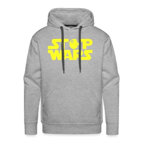 Stop Wars - Sudadera con capucha premium para hombre