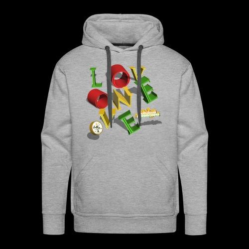 one love Kansidah 3D design - Männer Premium Hoodie