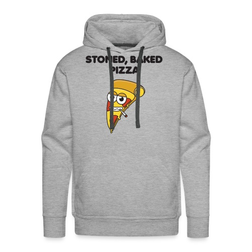 Stoned, Baked Pizza - Men's Premium Hoodie